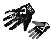 Rukavice RIDER čierna/biela /Vel:XL