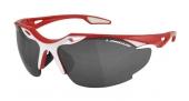 Okuliare BLADE červená/biela, sklá Smoke+Transp.