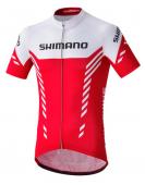 Dres Print SHIMANO červený /Vel:L