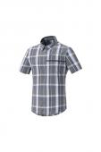 Košeľa Transit s krátkym rukávom šedo-modrá /Vel:L