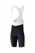 Nohavice Shimano Aspire s trakmi čierno-žlté /Vel:L