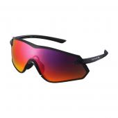 Okuliare S-PHYRE X čierne Optimal PL červené MLC/cloud zrkadlové