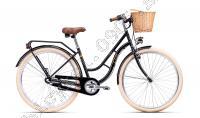 Bicykel CTM FIORE čierna/zlatá  _19/Vel:18