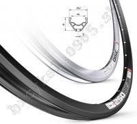 Ráf 250 DISC 700C 36D+vložky čierny, ventil 9, 520g