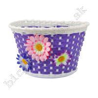 Košík GIRL na riadítka plast detský fialový