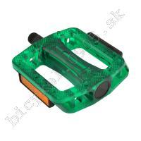 Pedále MTB/BMX PC zelené guľôčkové