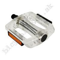 Pedále MTB/BMX PC transparentné guľôčkové